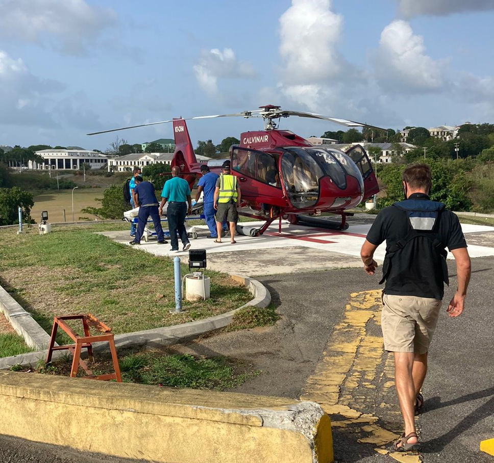 Barbudan Medevac Patient Recovering Well From Emergency Surgery at SLBMSJMC